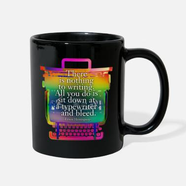 Valentine Typewriter hemingway typewriter - Full Color Mug