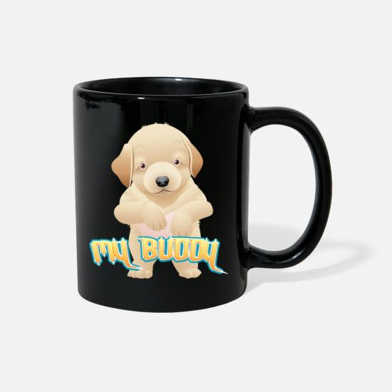 Pet Mugs & Drinkware - MY BUDDY DOG - Full Color Mug black