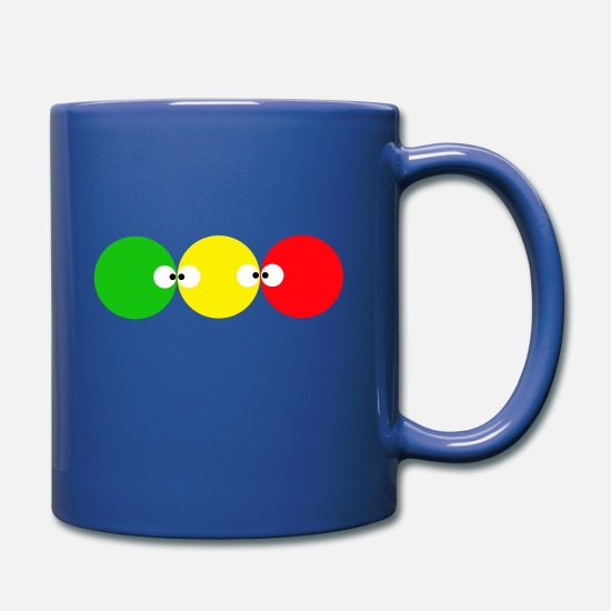 3 Point Mugs & Drinkware - 3 Lucky Points Eyes colourful colour gift - Full Color Mug royal blue
