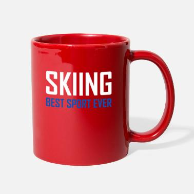 Love You Skiing - Best Sport Ever - Full Color Mug