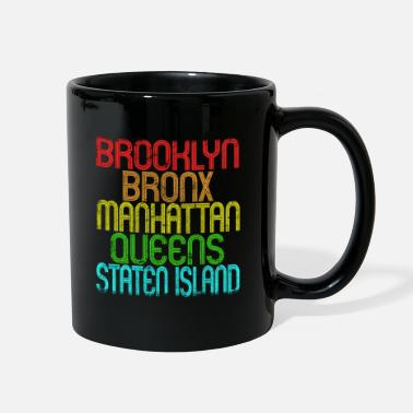 5 Boroughs The 5 Boroughs Of New York City Retro Vintage 80S - Full Color Mug