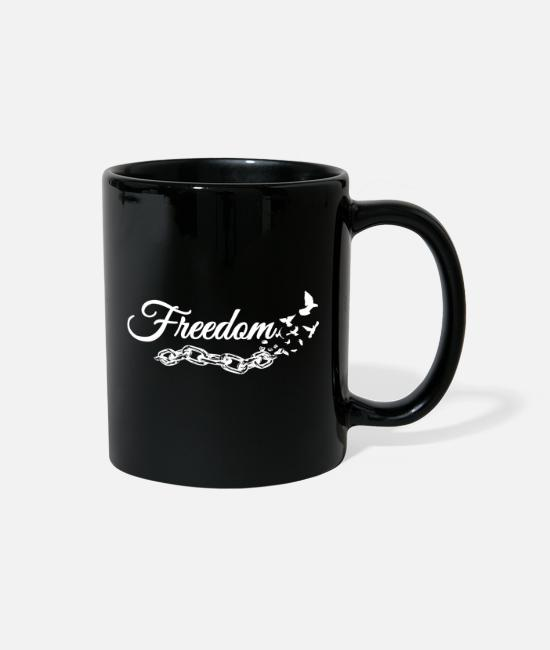 Free Bird Mugs & Cups - FREEDOM - Broken Chains - Free Birds - Full Color Mug black