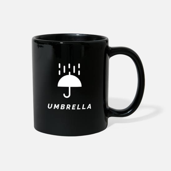 Rain Mugs & Drinkware - Umbrella - Full Color Mug black