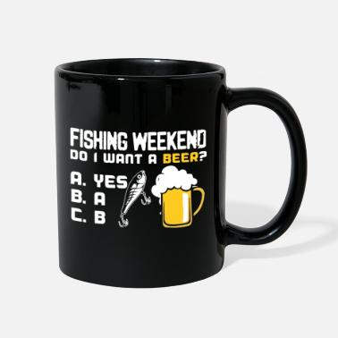 Funny Fishing Fishing weekend , funny fishing , fishing and beer - Full Color Mug
