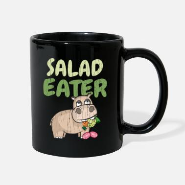 Crossfit Salad Eater Funny Hippo Vegetarian - Full Color Mug