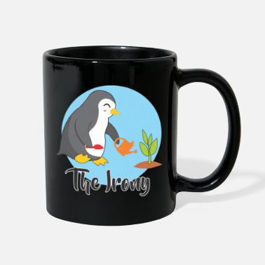 Irony the irony of penguin - Full Color Mug