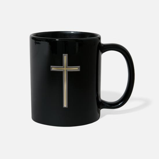 Christian Mugs & Drinkware - Christian cross - Full Color Mug black