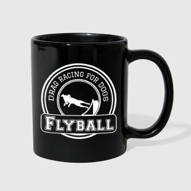 flyball drag racing dogs - Full Color Mug