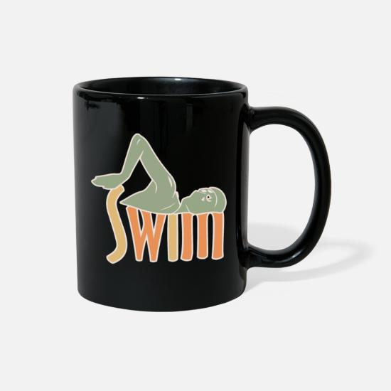 Gift Idea Mugs & Drinkware - swimming pool gift baywatch crawl swimmer lifeguar - Full Color Mug black