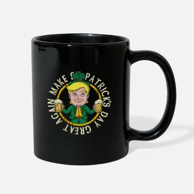 Tuxedo Trump Make St Patrick's Day Great Again T-Shirt - Full Color Mug