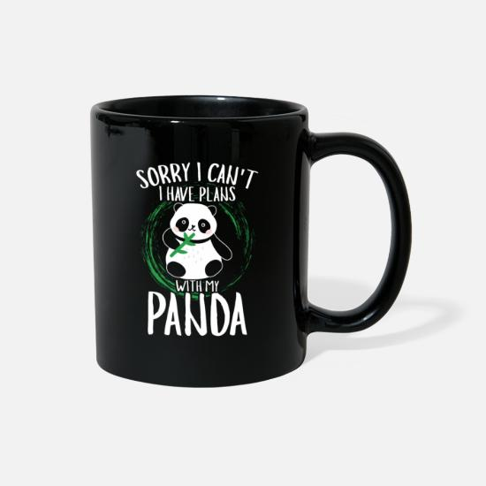 Panda Mugs & Drinkware - Panda Cute Animal Introvert Saying Funny Gift - Full Color Mug black