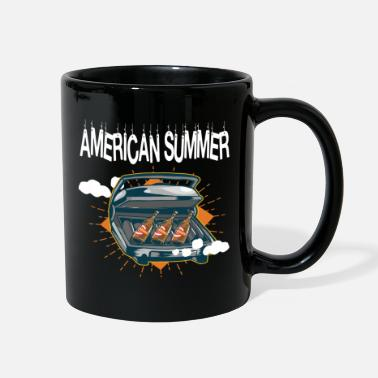 american beer fire grill gift idea fun - Full Color Mug