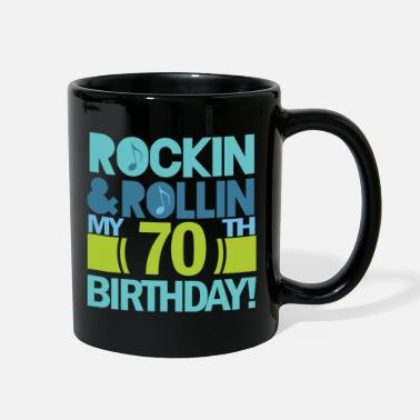 70th Birthday 70th Birthday Music Themed Funny - Full Color Mug