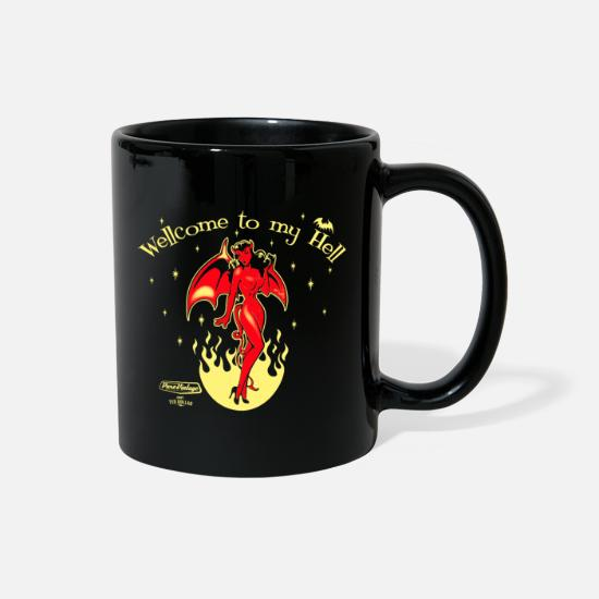 Ghost Mugs & Drinkware - Welcome to my Hell - Full Color Mug black