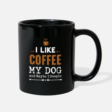 3 People Dogs I like coffee My Dog and maybe 3 people T-shirt - Full Color Mug