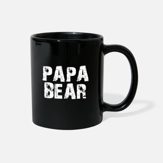 New Mugs & Drinkware - PAPA BEAR (light-edit) - Full Color Mug black