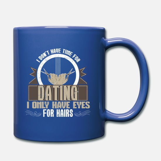 Shave Mugs & Drinkware - Barber dating gift - Full Color Mug royal blue