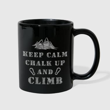 Rock Climbing Chalk Up & Climb - Full Color Mug