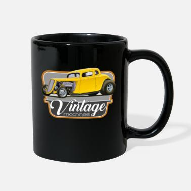 1934 Vintage Customs Yellow Hot Rod - Full Color Mug