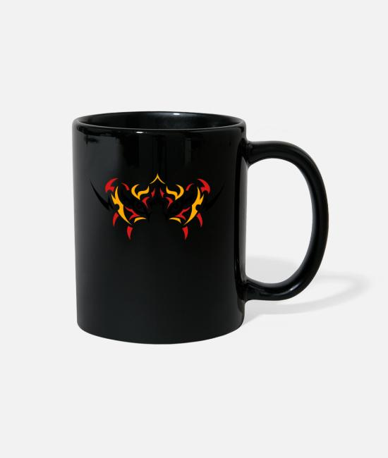 Design Mugs & Cups - TIGER FACE TATTOO darr - Full Color Mug black