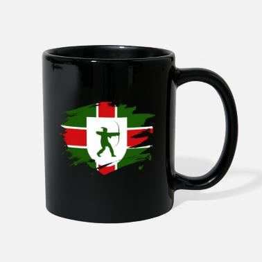 Nottinghamshire Nottinghamshire Flag Paint Splatter Design - Full Color Mug