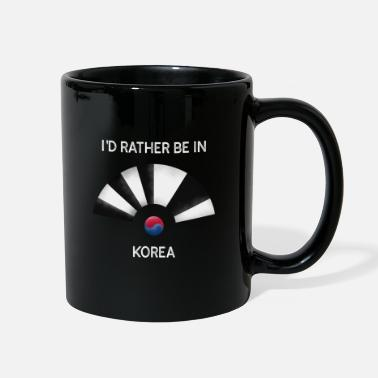 Family Reunion Funny I d Rather Be in Korea - Full Color Mug