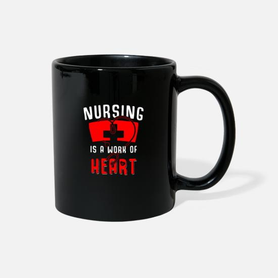 Occupation Mugs & Drinkware - nurse - Full Color Mug black