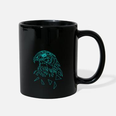 Eagle Head Eagle geometric eagle head - Full Color Mug
