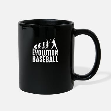 Cool Baseball Baseball Evolution Cool Baseballer Silhouette Gift - Full Color Mug