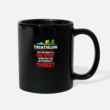 Progress Triathlon - swimming, cycling, running, gift - Full Color Mug