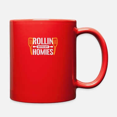 Japanese Art Rollin with my Homies - Sushi Japanese - Full Color Mug