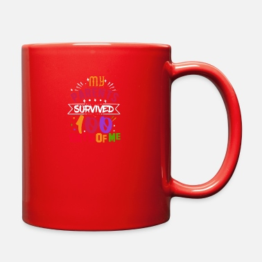 Girlfriend Is My Valentine My Parents Survived 100 Days Of School - Full Color Mug