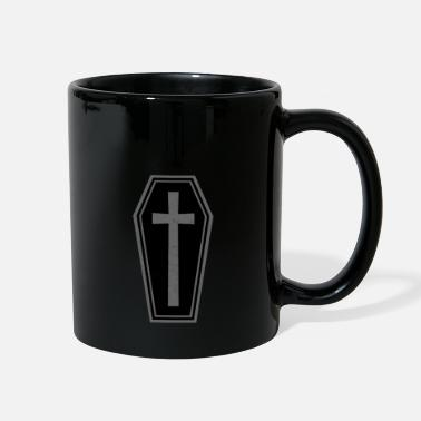 Goth Goth Coffin With Crucifix - Full Color Mug