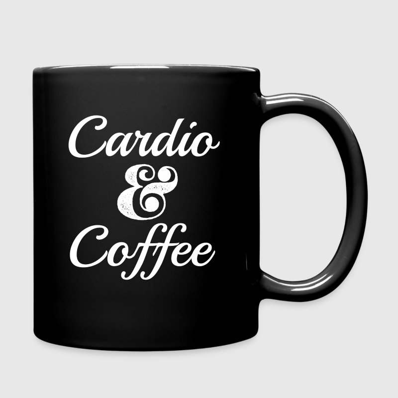 Funny Cardio and Coffee Shirt  - Full Color Mug