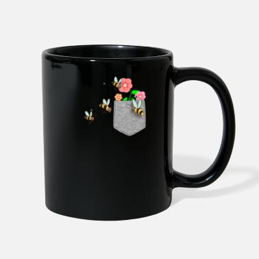 Flowers Bee Reaching For Flower In Your Fake Pocket Funny - Full Color Mug