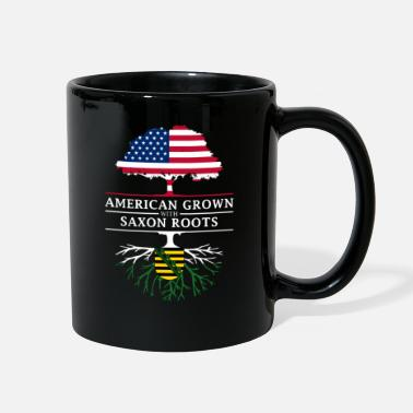 Saxon American Grown with Saxon Roots Saxony Design - Full Color Mug