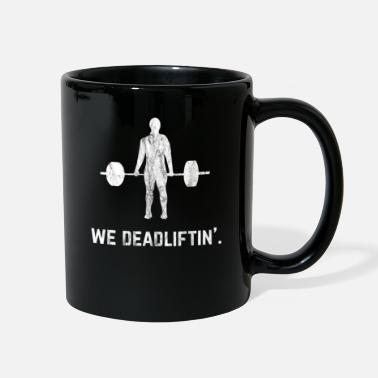Squat Powerlifting Weightlifting Deadlift Retro Lifting - Full Color Mug