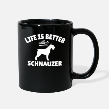 Witty Witty Schnauzer Dog Saying - Full Color Mug