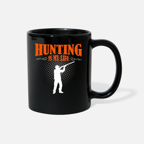 Life Force Mugs & Drinkware - Hunting Is My Life - Full Color Mug black