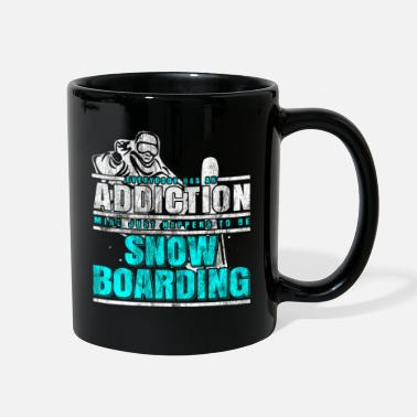 Outdoor Snowboarding addiction - Full Color Mug