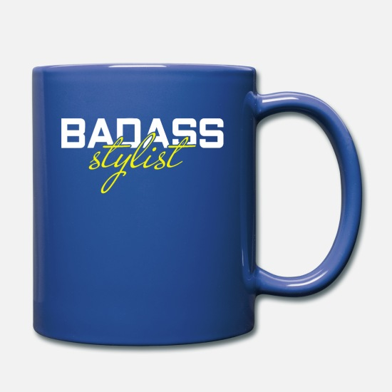 Barber Mugs & Drinkware - Barber Barber T-Shirt - Full Color Mug royal blue