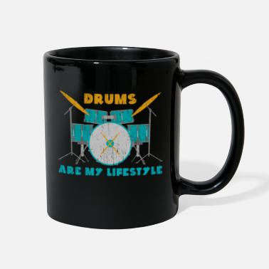 Lovely Drums are my lifestyle gift Christmas birthday - Full Color Mug
