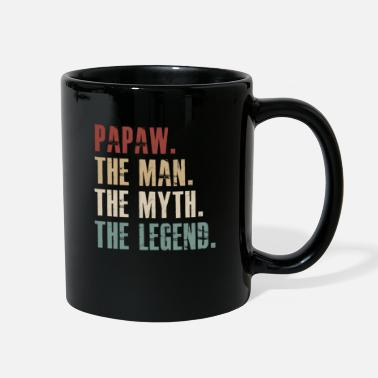 Man Papaw the man the myth the legend - Full Color Mug
