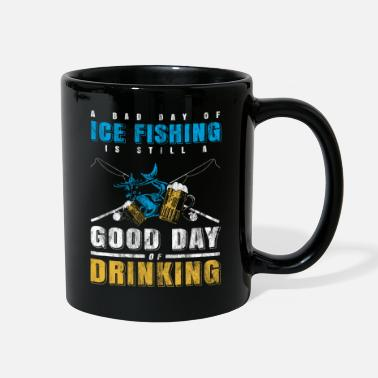 Lake ice Beer fishing - Full Color Mug