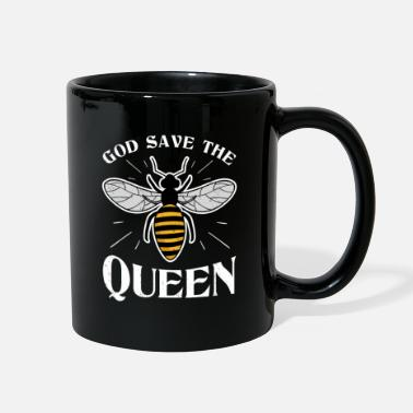 God save the Queen Bee Gift Honey Lovers Insect - Full Color Mug