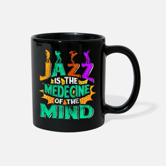 Music Mugs & Drinkware - Jazz is Medicine - Full Color Mug black
