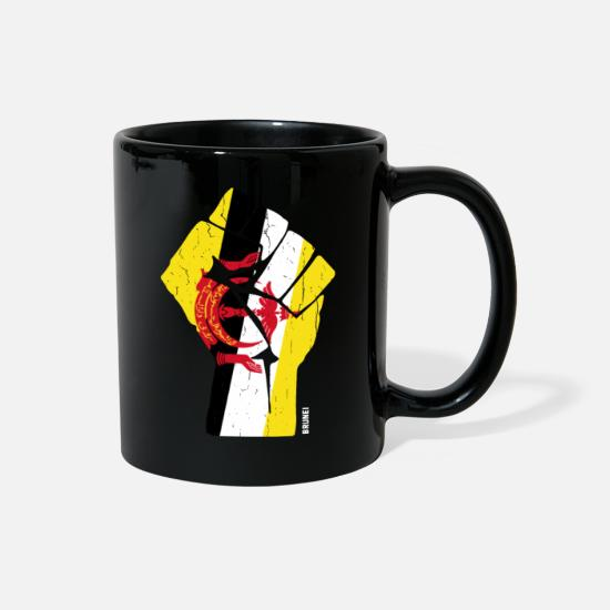 Flag Mugs & Drinkware - Team Brunei Flag T Shirt - Full Color Mug black