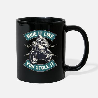 Funny Biker Funny Biker Motorcycle Rider Quotes - Full Color Mug