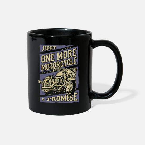 Motor Mugs & Drinkware - Funny Biker Quotes Motorcycle Rider Saying - Full Color Mug black