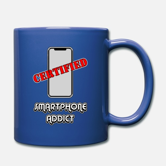 Youtube Mugs & Drinkware - Smartphone Addict - Full Color Mug royal blue